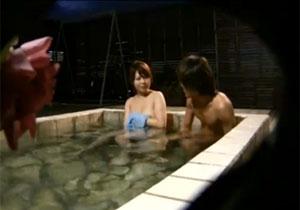 混浴温泉で嫁がイケメンに声をかけられたら?旦那がモニタリング!