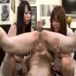 【エロ動画】 女子大美術部のヌードモデルになった男に屈辱プレイ!
