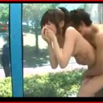 【エロ動画】 公園でマジックミラー号を撮影中に警備員登場ハプニング!でも続行