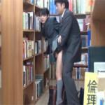 【エロ動画】 図書館でレイプした娘を合体したまま連れまわす鬼畜レイプ!