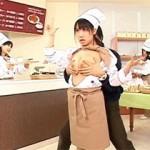 【エロ動画】 時間を止めてパン屋さんの女の子店員にドスケベな悪戯!