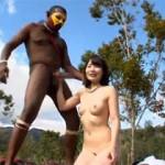 日本のAV女優がパプアニューギニアの原住民と中出しセックスする野生の王国2015!