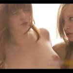 外人ってやっぱスゴイ。妖精のような白人娘2人が3Pしてる美しいファック映像!