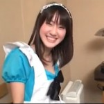 AVに出そうに見えない清楚な素人娘がメイドコスプレしてめっちゃ楽しそうにハメ撮り出演!