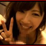 ハメ撮りにノーブラノーパンで来たうえにチンポ舐めながら笑顔でピース!可愛すぎる素人娘ハメ撮り!