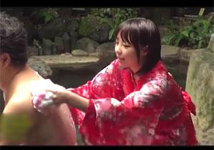 混浴民宿で呼んだピンクコンパニオンが大当たり☆期待感でフルボッキしたら「秘密ですよ☆」とH本番させてくれた☆