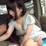 チンコ出しながら運転して隣にいる素人娘に見せつけて反応を楽しむ羞恥企画!