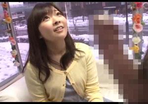 シロウト小娘が初めて見る巨大チンポに興味津々で初タイケン☆