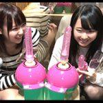 「5万円で最新バイブ挿れて下さい!」 居酒屋で彼氏連れのほろ酔い女子大生にお願いしたらノリでしてくれた!