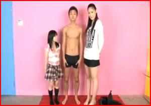 どちらも成人したav女優☆170cm女優と低身長女優がサンピーしたらこうなる☆