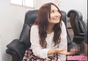 「凄い☆初めて見ました☆」 初めてのセンズリ鑑賞で赤面しながら嬉しそうな女子大学生☆