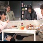 テーブルの下で兄の股間を足で弄る小悪魔な妹!親にバレないよう中出しエッチまで要求!