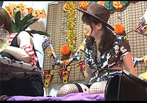ハロウィンパーティーに誘った美巨乳の仮装っ小娘をそのままハメる一部始終☆