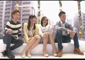 親友の恋人とヤりたい彼達が謝礼カネで恋人を説得してスワッピングするミラー号キャッチ☆