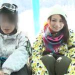 """可愛い彼女が""""ノリ""""で浮気しちゃって後悔するスキー場での寝取られミラー号!"""