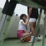 たまたま屋上に居合わせてこっそり撮影することに成功したカップルのフェラ動画!