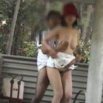 不倫カップルの個人投稿!公園で露出して青姦までしてる個人撮影動画!