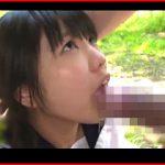 戸田真琴ちゃんが口に入りきらない巨根を相手に青姦ファック!