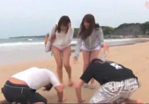 ビーチで見つけた水着ギャルに正々堂々土下座してナンパする素人土下座ナンパ!